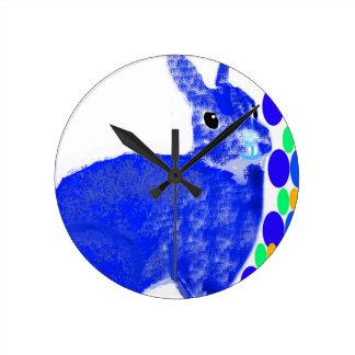 Blue Easter Bunny Rabbit Clocks