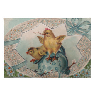 Blue Easter Egg and Chicks Placemat