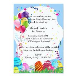 Easter monday gifts gift ideas zazzle uk blue easter sunday birthday party invites negle Images