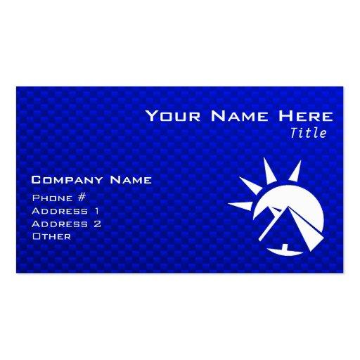 Blue Egyptian Pyramid Business Cards