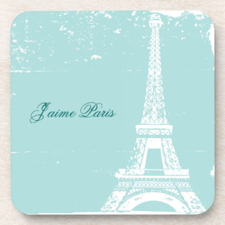 Blue Eiffel Tower Cork Coaster Set