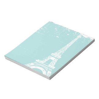 Blue Eiffel Tower Notepads