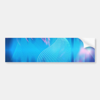 Blue Electric Audio Waveform Abstract Bumper Sticker
