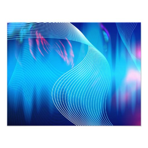 Blue Electric Audio Waveform Abstract Invite