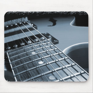 Blue Electric Guitar Close-up Mouse Pad