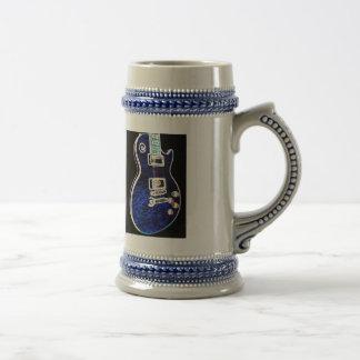 Blue Electric Guitar Mug 2