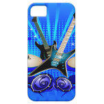 Blue Electric Guitars, Drums & Speakers iPhone 5 Cover