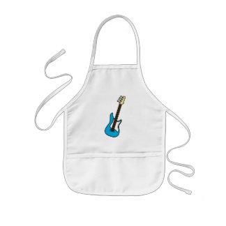 Blue Electric Toy Guitar Apron