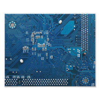 blue electronic circuit board computer pattern art photo
