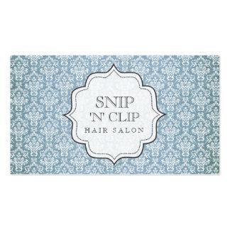 Blue Elegant Antique Damask Hair Stylist Fashion Pack Of Standard Business Cards