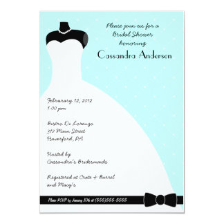 Blue Elegant Bridal Shower Invitation