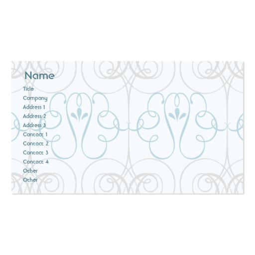 Blue Elegant - Business Double-Sided Standard Business Cards (Pack Of 100)