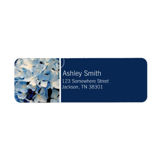 Blue Elegant Hydrangea Wedding Labels