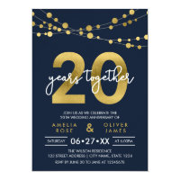 Lights 20th Wedding Anniversary Card