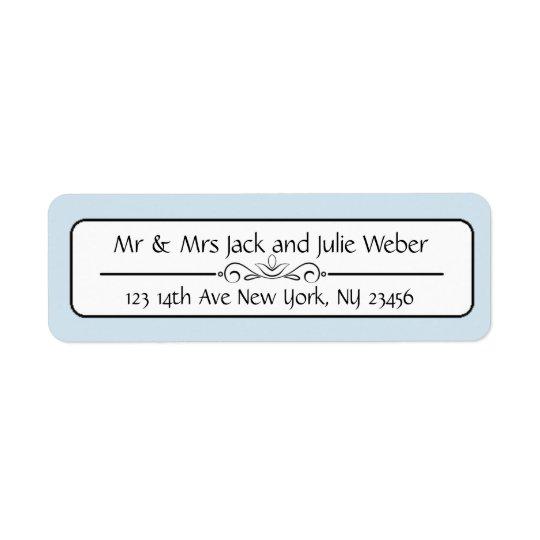 Blue Elegant Return Address Stickers