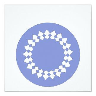 Blue Elegant Round Design. Art Deco Style. Card