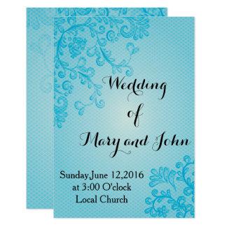 Blue,elegant Wedding invitation