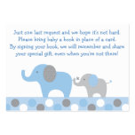 Blue Elephant Baby Shower Book Request Cards Business Card Templates