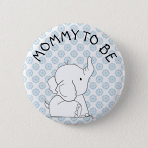 Blue Elephant Baby Shower Pin