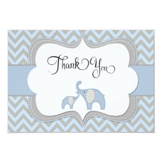 Blue Elephant Baby Shower Thank You Card 9 Cm X 13 Cm Invitation Card