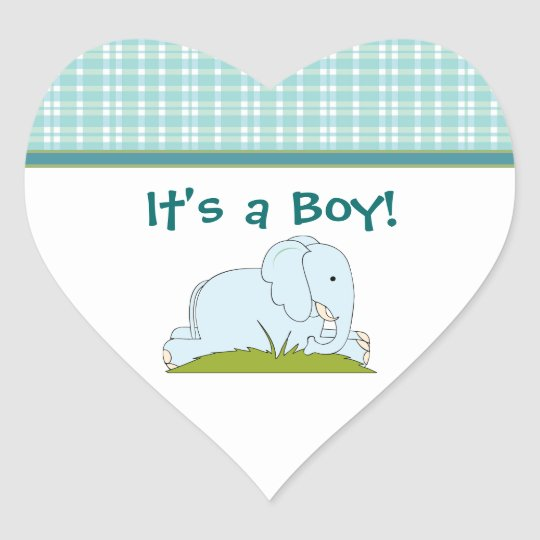 Blue Elephant Baby Stickers