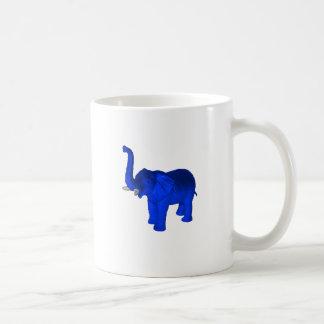 Blue Elephant Basic White Mug