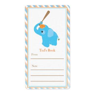 Blue Elephant Bookplate