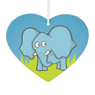 Blue elephant cartoon car air freshener