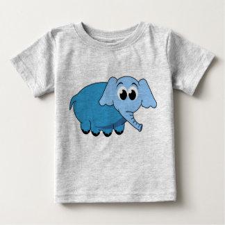 Blue Elephant Cartoon Childrens Tshirt
