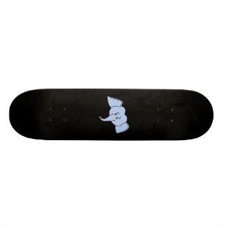 Blue Elephant Face. Cartoon 20 Cm Skateboard Deck