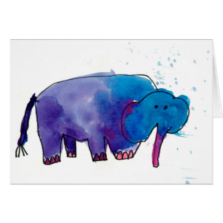 Blue Elephant • Gracie Glaser, Age 6 Card