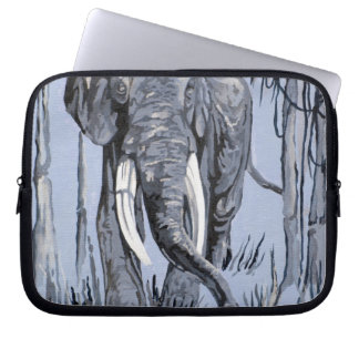 Blue Elephant Laptop Computer Sleeve