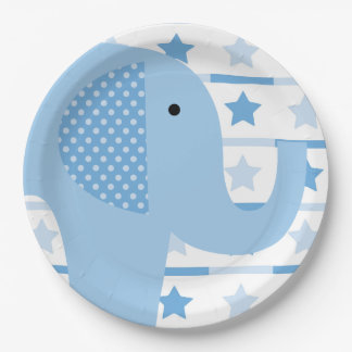 Blue Elephant Paper Plates 9 Inch Paper Plate