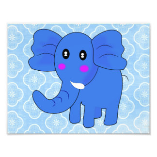 Blue Elephant Photo Art