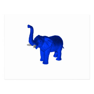 Blue Elephant Postcard
