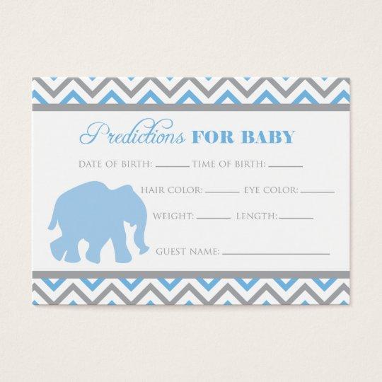 Blue Elephant Predictions Card