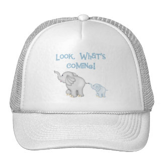 Blue Elephant Pregnancy Trucker Hat