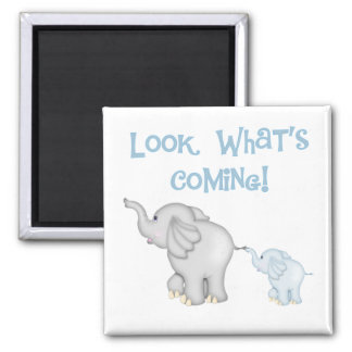 Blue Elephant Pregnancy Magnet