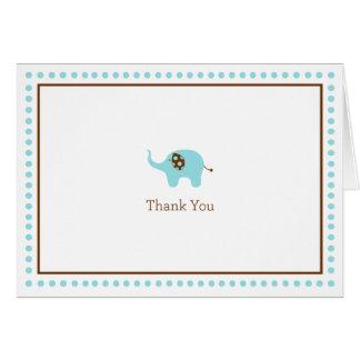 Blue Elephant Thank You Card