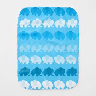 Blue Elephants Burp Cloth