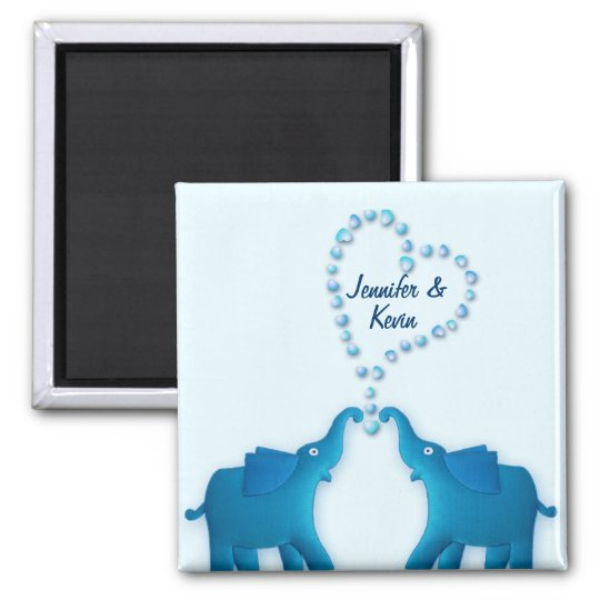 blue elephants magnet