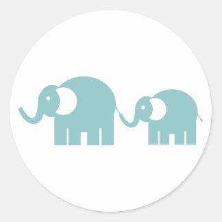 Blue Elephants Stickers