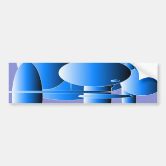 Blue Ellipses Modern Art Bumper Sticker