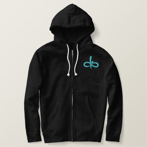 Blue Ember Embroidered Hoodie