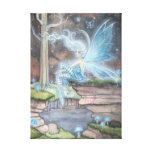 Blue Ember Fantasy Fairy Art Wrapped Canvas Gallery Wrapped Canvas