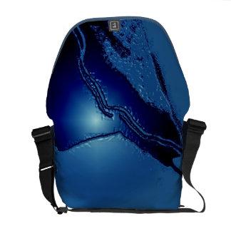 Blue Emboss Latex Messenger Bag
