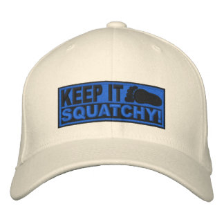 Blue EMBROIDERED Keep It Squatchy - Bobo s Embroidered Hat