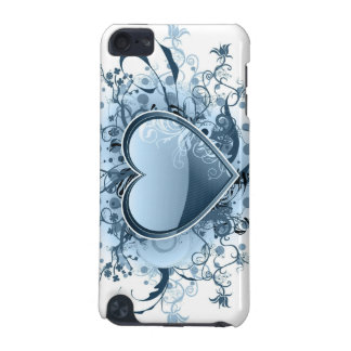 Blue Emo Heart iTouch Case iPod Touch 5G Cover
