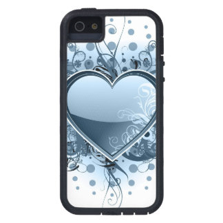 Blue Emo Heart Tough Xtreme iPhone 5 Case