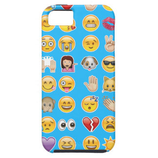 blue emoji iPhone 5 cover